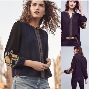 Lucania Embroidered Blouse Anthropologie
